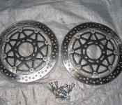 03-04 Suzuki GSXR 1000 Front Rotors and Bolts