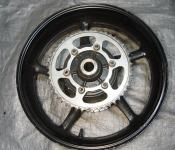 03-05 Yamaha R6 / 06-10 R6s Rear Wheel with Sprocket and Rotor