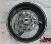 11-16 Suzuki GSXR 600 750 Rear Wheel with Sprocket and Rotor