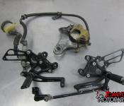 02-03 Honda CBR 954RR Aftermarket Sato Adjustable Rearsets