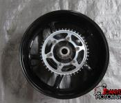 08-14 Yamaha YZF R6 Rear Wheel with Sprocket and Rotor