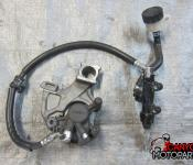 09-11 Suzuki GSXR 1000 Rear Master Cylinder, Brake Lines and Caliper