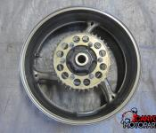09-11 Suzuki GSXR 1000 Rear Wheel with Sprocket and Rotor