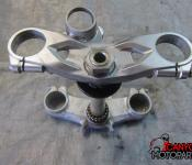 05-06 Kawasaki ZX636 Upper and Lower Triple Tree with Steering Stem