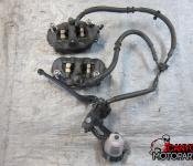 11-15 Kawasaki ZX10R Front Master Cylinder, Brake Lines and Calipers