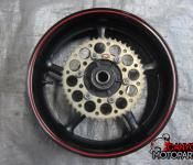 08-16 Yamaha YZF R6 Rear Wheel with Sprocket and Rotor