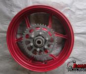07-08 Kawasaki ZX6 Rear Wheel with Sprocket and Rotor
