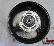 08-17 Suzuki GSXR 1300 Hayabusa Rear Wheel with Sprocket and Rotor
