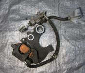 08-11 Suzuki GSXR 1300 Hayabusa Rear Master Cylinder, Brake Lines and Caliper