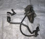 07-08 Kawasaki ZX6 Rear Master Cylinder, Brake Lines and Caliper