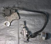 07 Yamaha R6s Rear Master Cylinder, Brake Lines and Caliper