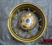 06-10 Kawasaki ZX14 Aftermarket Rear Wheel with Sprocket and Rotor