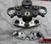 08-11 Suzuki GSXR 1300 Upper and Lower Triple Tree with Steering Stem