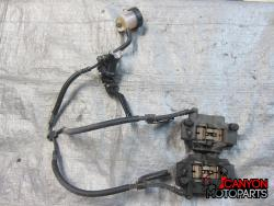 08-14 Yamaha YZF R6 Front Master Cylinder, Brake Lines and Calipers