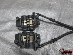 08-14 Yamaha YZF R6 Front Brake Lines and Calipers