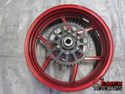 05-06 Kawasaki ZX636 Rear Wheel with Sprocket and Rotor