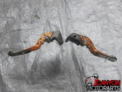 08-14 Yamaha YZF R6 Aftermarket Foldable Extendable Levers