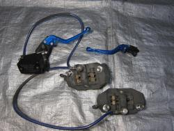 08-11 Suzuki GSXR 1300 Hayabusa Front Master Cylinder, Brake Lines and Calipers. Pazzo Levers